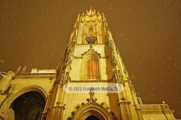 Oviedo con nieve. Ciudad de Oviedo