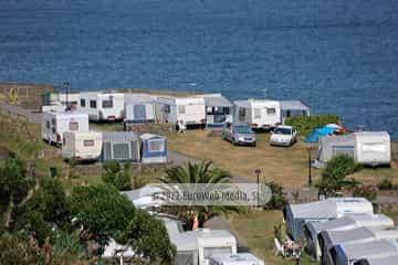 Paseo marítimo. Camping Perlora