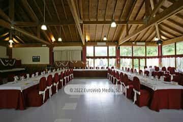 Salón banquetes. Hotel Santa Cristina