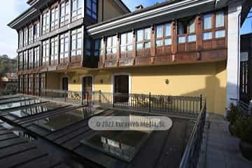Jardín. Apartamentos turísticos La Pontiga