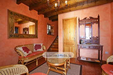 Salón. Casa rural Casa Miyares