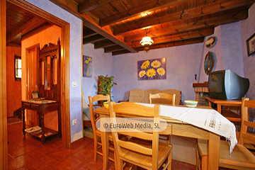 Salón cocina. Casa rural Casa Miyares