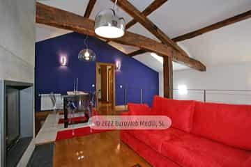 Salón con chimenea. Casa de aldea Palacio de Ardaliz