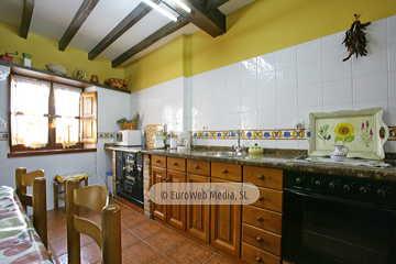 Cocina. Casa rural Casa Ángela