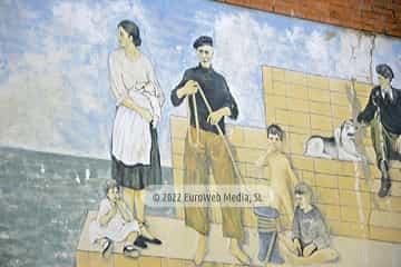Mural «Tríptico» en Candás