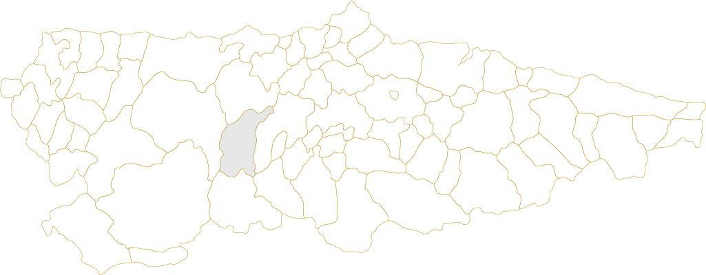 Situación de Belmonte de Miranda en Asturias