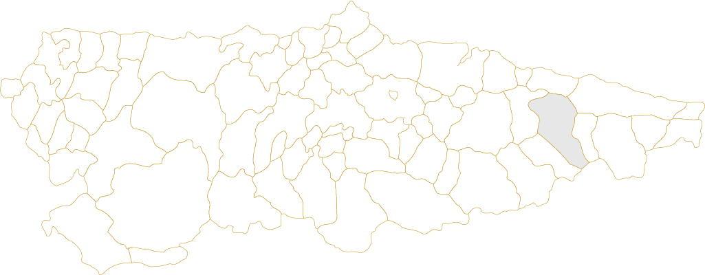Situación de Cangas de Onís en Asturias