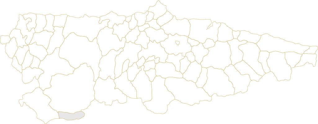 Situación de Degaña en Asturias