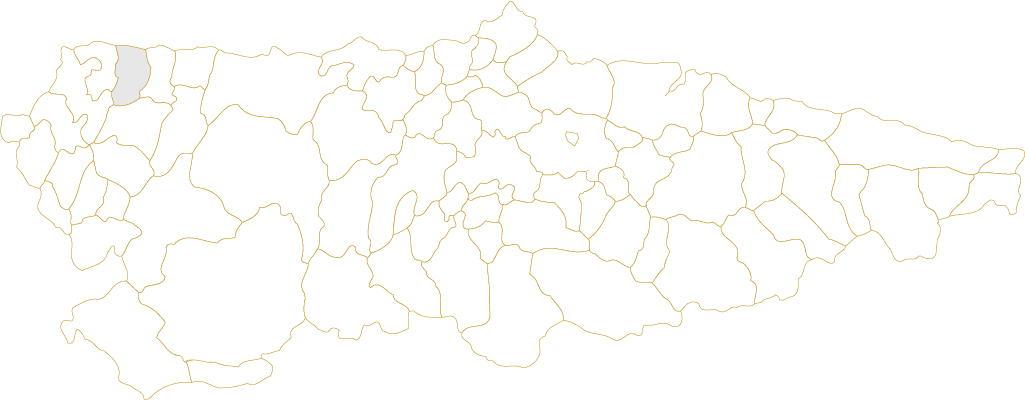 Situación de El Franco en Asturias