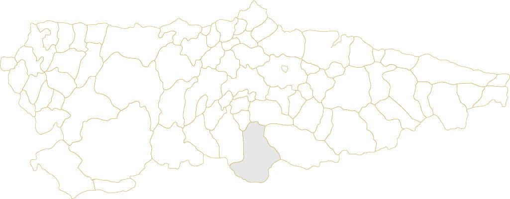 Situación de Lena en Asturias