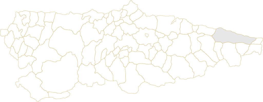 Situación de Llanes en Asturias