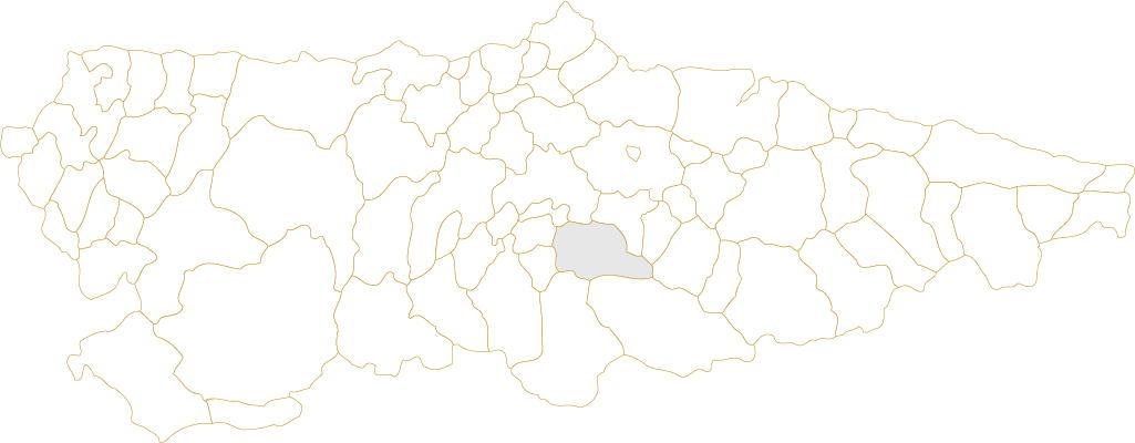 Situación de Mieres en Asturias