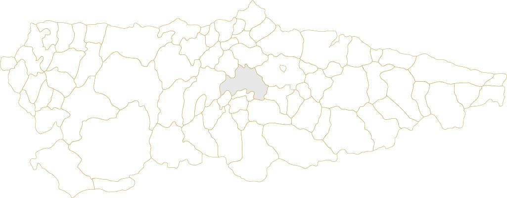 Situación de Oviedo en Asturias