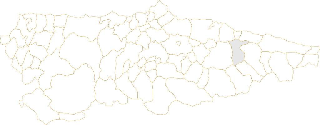 Situación de Parres en Asturias