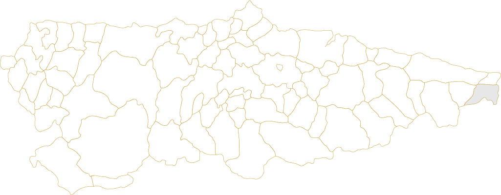 Situación de Peñamellera Baja en Asturias