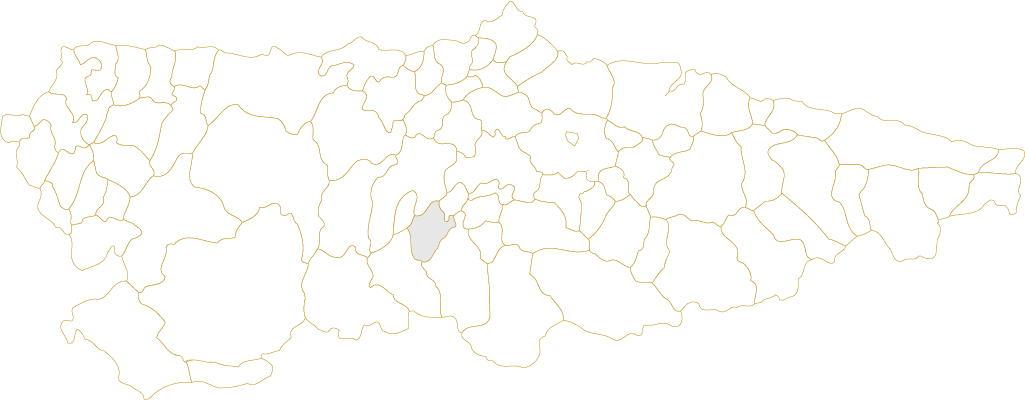 Situación de Proaza en Asturias