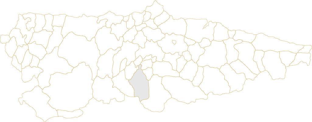 Situación de Quirós en Asturias