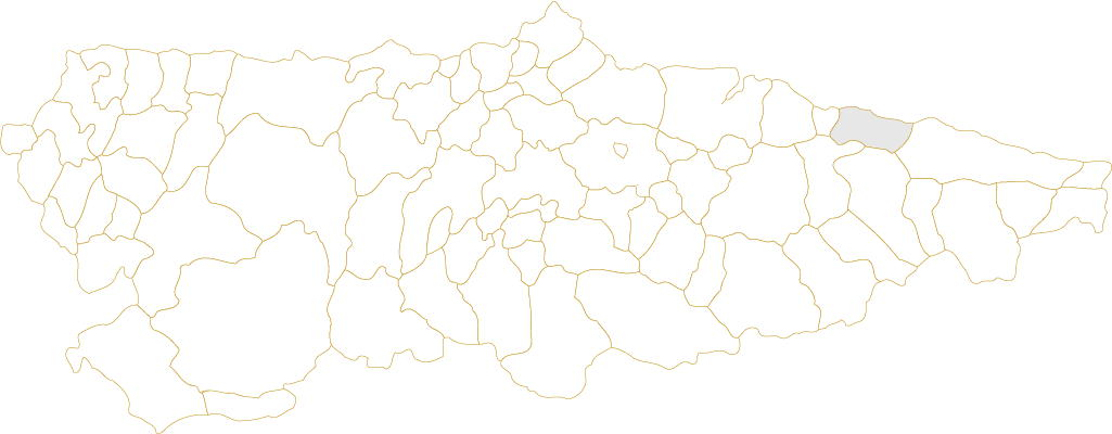 Situación de Ribadesella en Asturias
