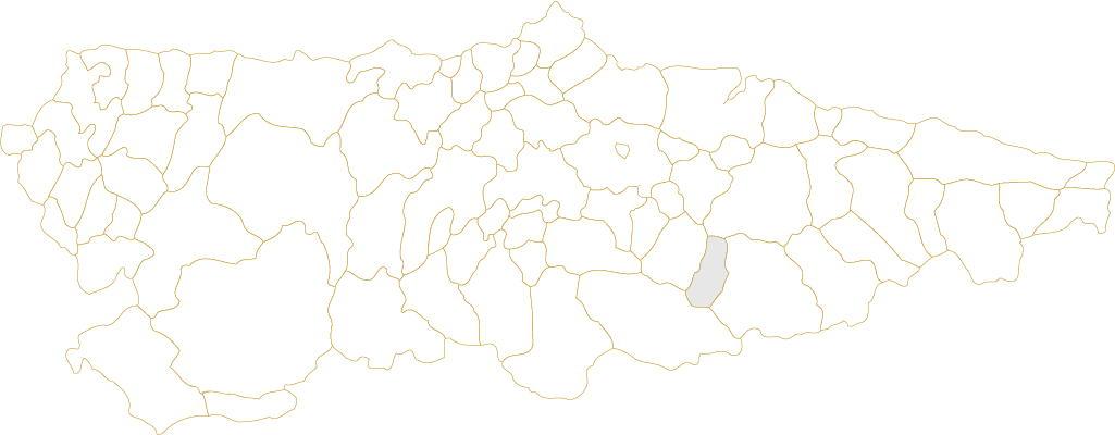 Situación de Sobrescobio en Asturias