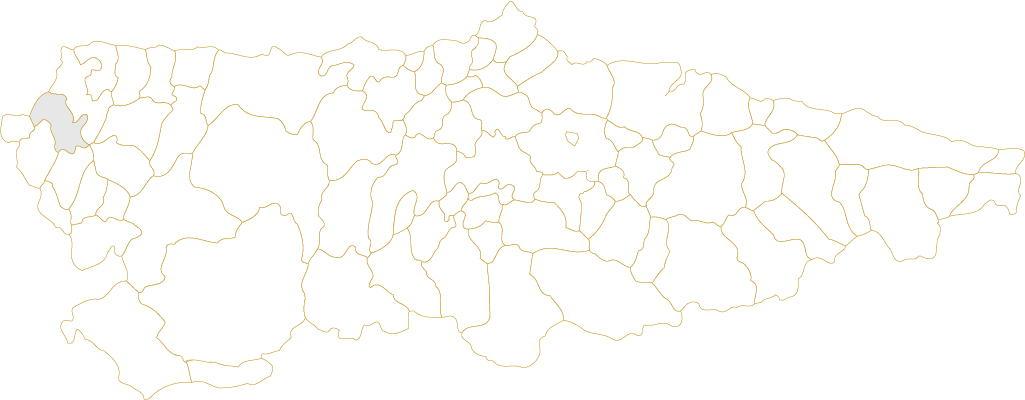 Situación de Vegadeo en Asturias