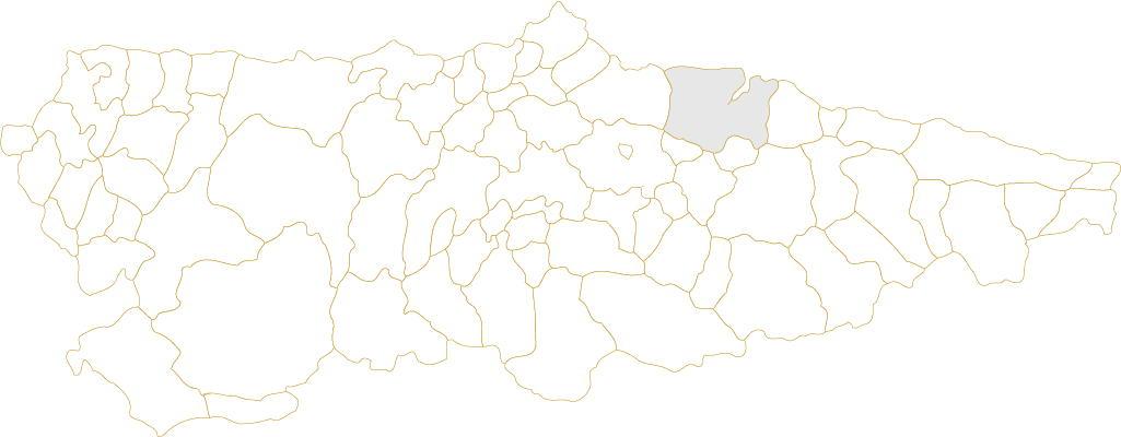 Situación de Villaviciosa en Asturias